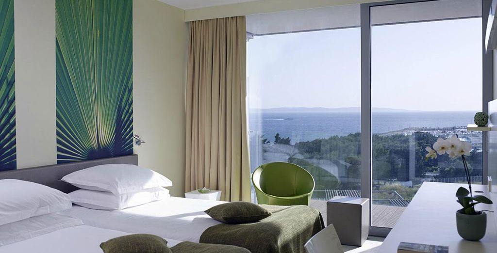 The hotel houses 250 elegant guest rooms and suites