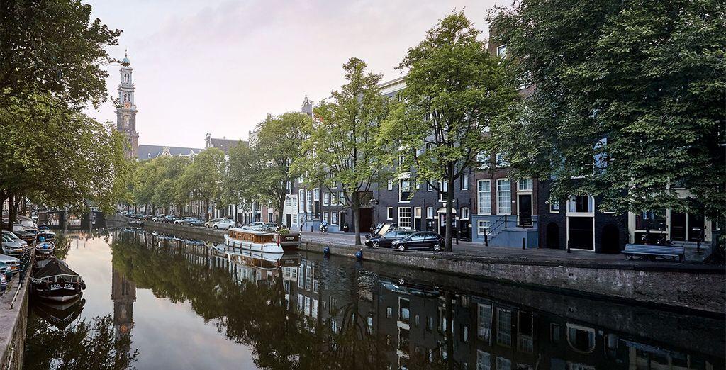 The Westerkerk, Amsterdam's iconic 17th century landmark, is just 150 steps away....