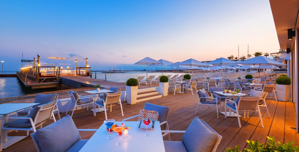 Warm evenings on the terrace overlooking the French Riviera