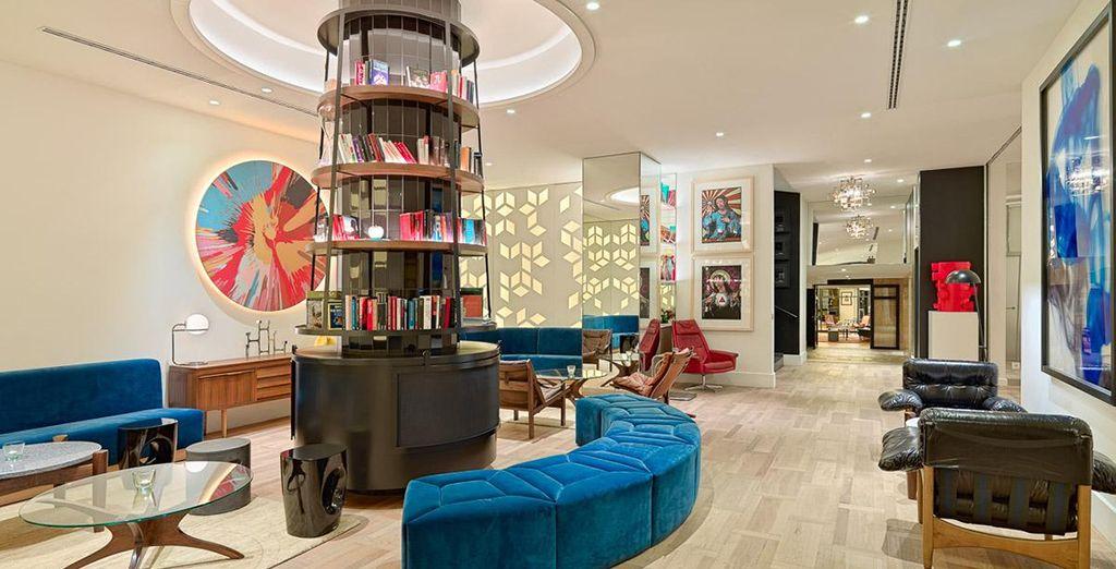 The elegant and contemporary interior design, was created...