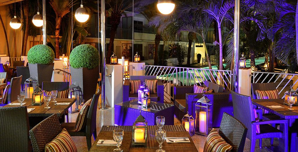 Settle down for a meal on the terrace