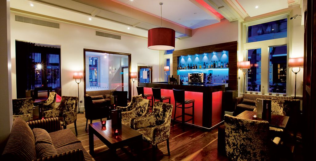 After a day pounding the pavement, return to the hotel to dine in stylish surroundings
