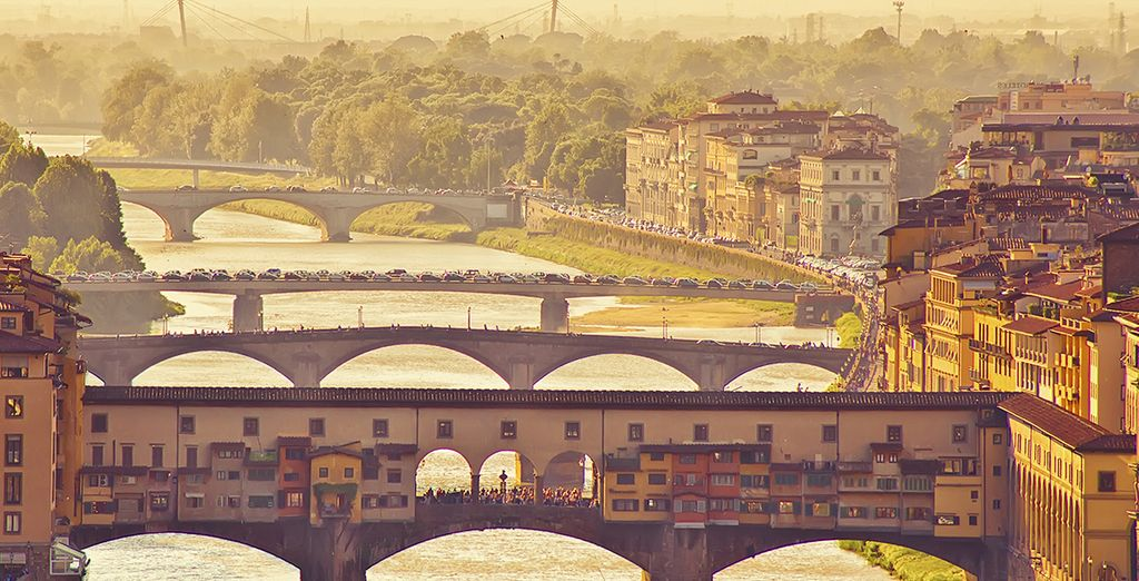 Just 100 metres from the River Arno