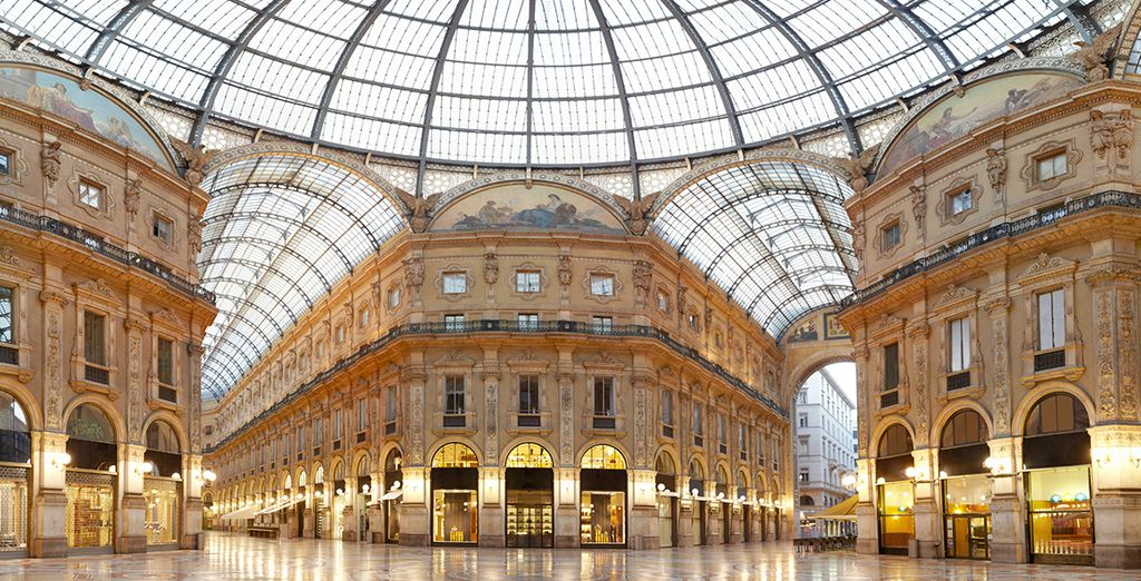 To the oldest shopping mall in the world - Galleria Vittorio Emanuele II
