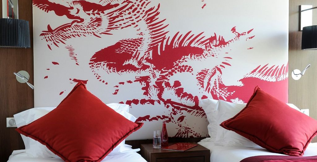 Each room is decorated to represent places around the world