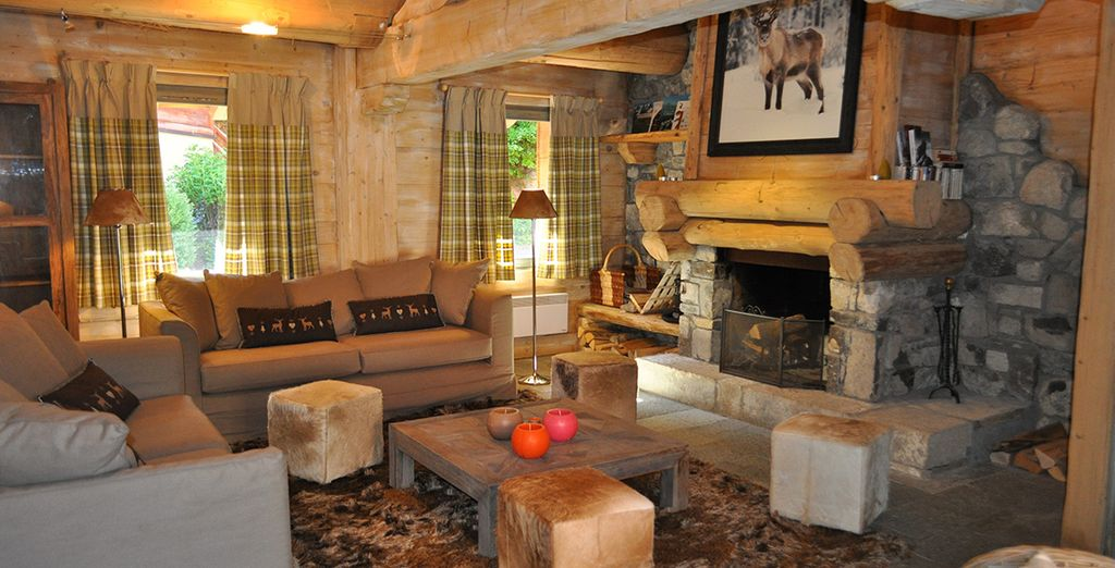 Cosy chalets bedecked in wood