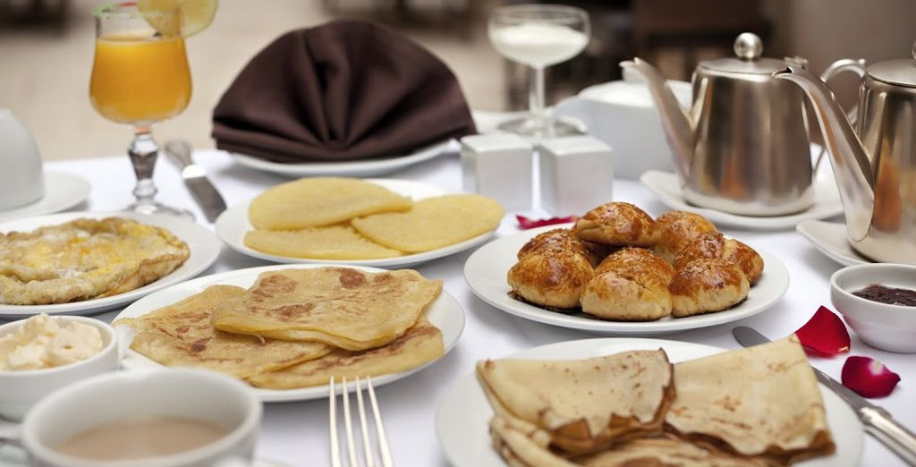 Fill up on the delicious daily breakfast - or upgrade to Half Board!