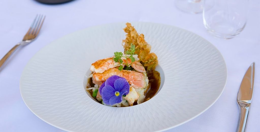 The restaurant serves refined, classic French cuisine