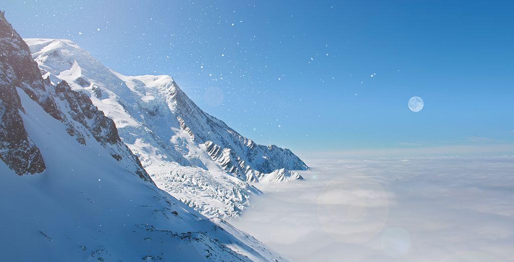 Enjoy breathtaking views of the Mont Blanc