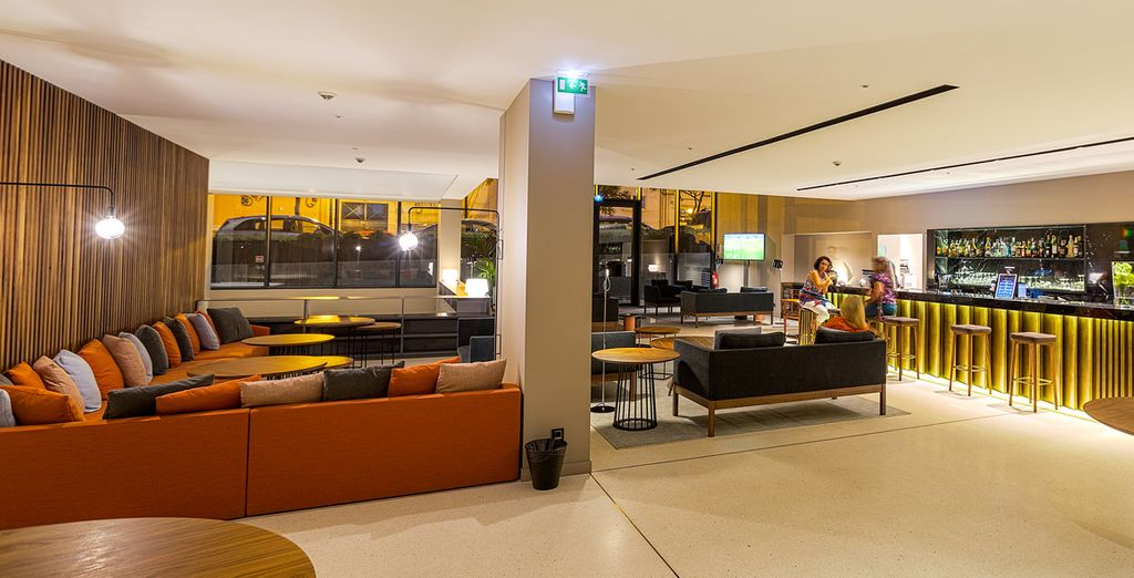 Then return to your hotel and enjoy a cocktail or two in a sleek setting