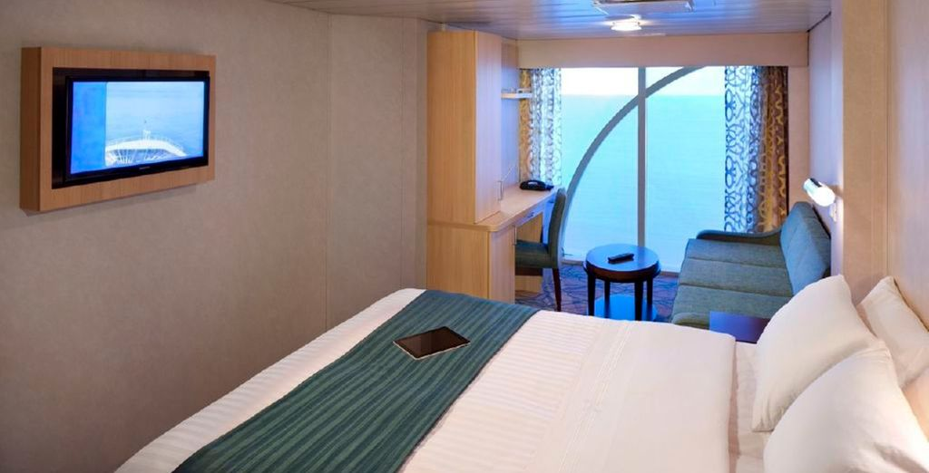 Choose from 3 staterooms to suit your budget