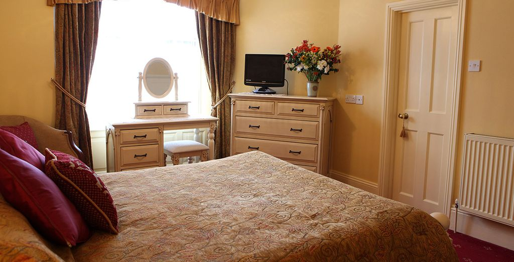 Your comfortable room is a cosy reatreat