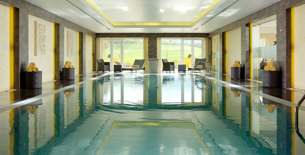 Follow it with a dip in the indoor pool