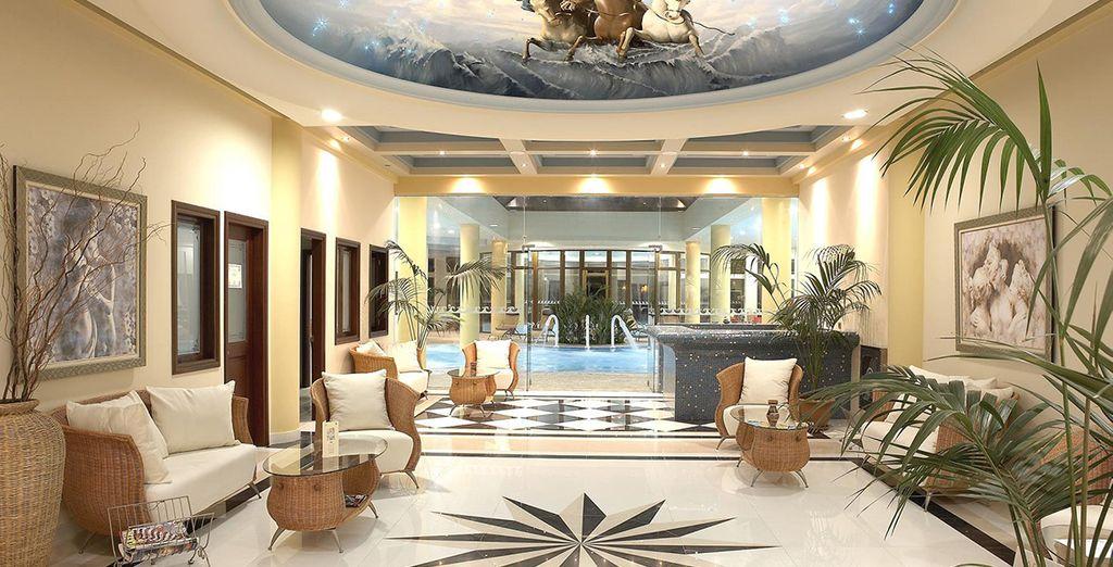 Featuring grand interiors
