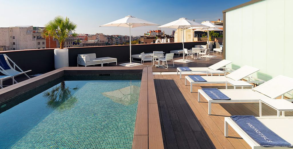 Take a dip in the pool in the warmer months