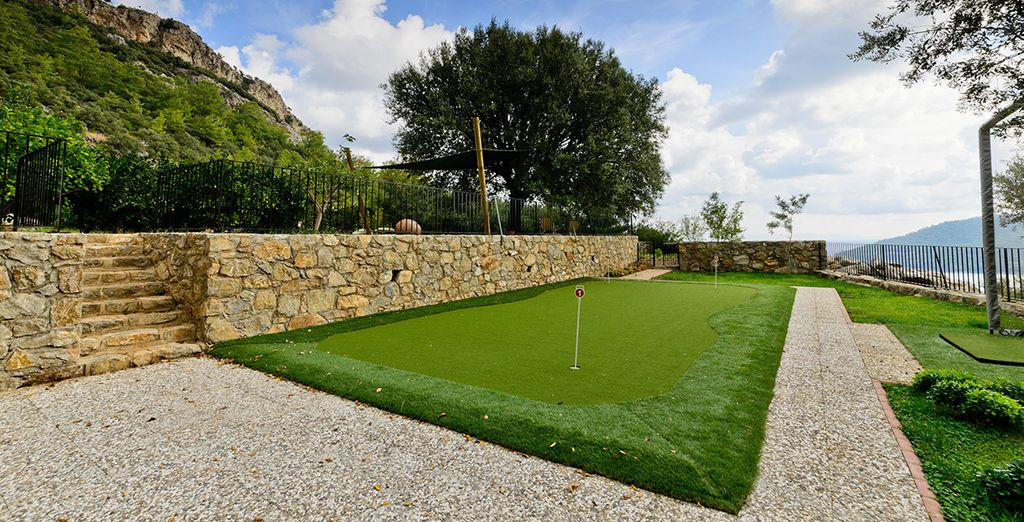 Practise your swing on the putting green