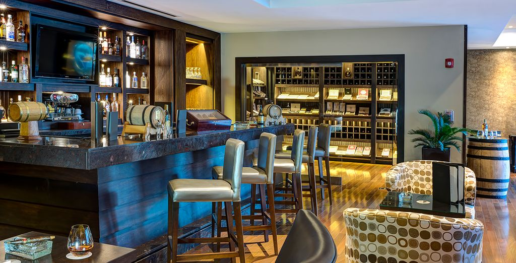 Have a glass of authentic Dominican rum in the hotel bar