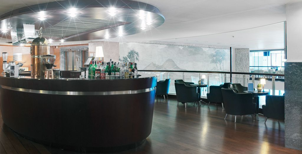 Order a drink at the sharp and stylish hotel bar
