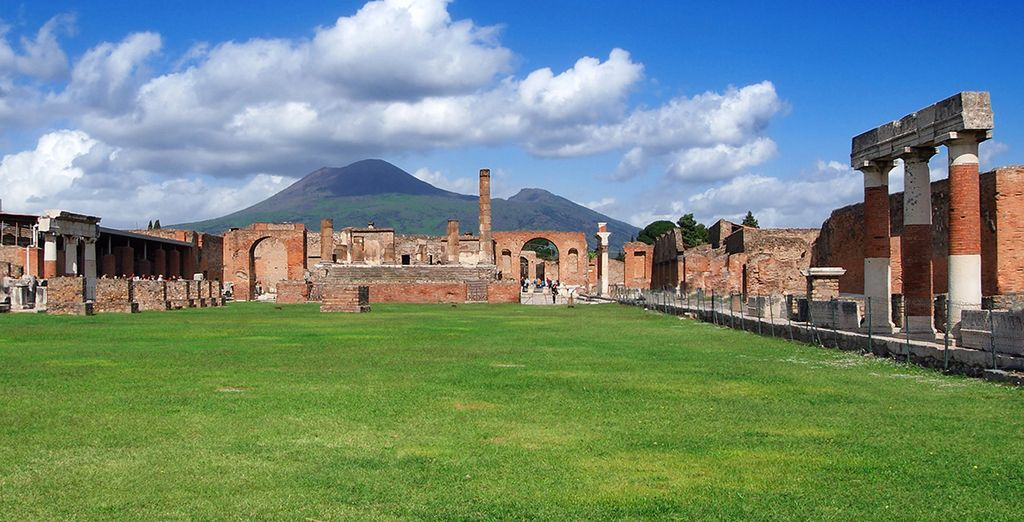 And the ancient Roman city of Pompeii