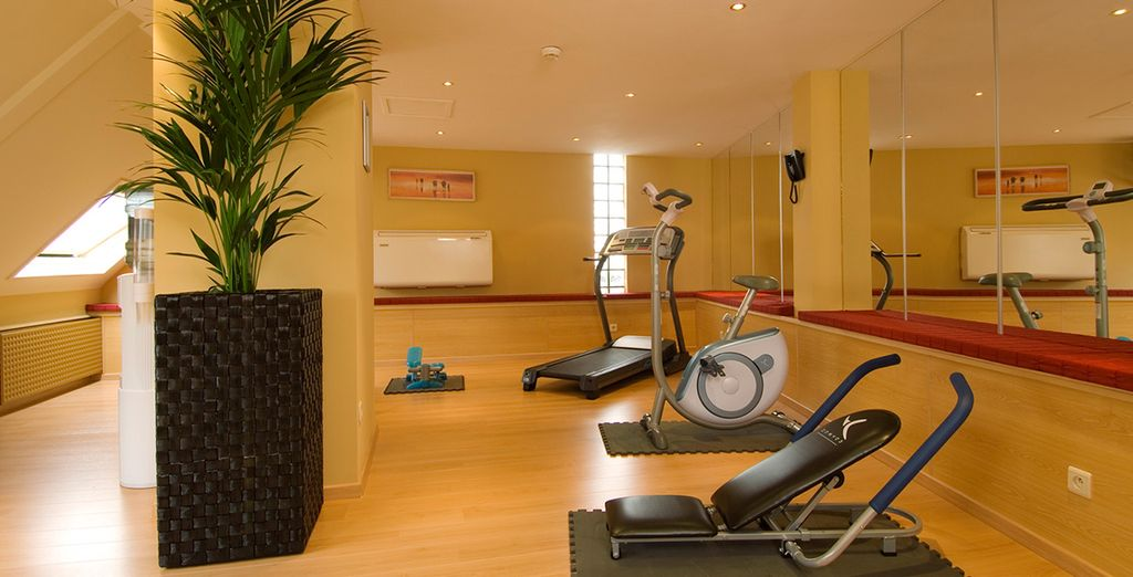 Enjoy a morning workout at the 24 hour gym
