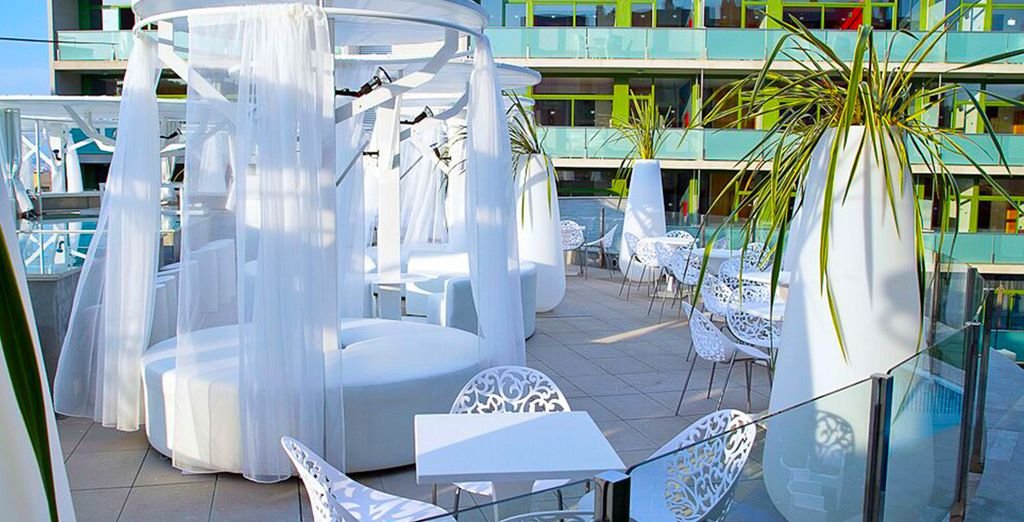 Back at the hotel, enjoy a dink on the chill out terrace...