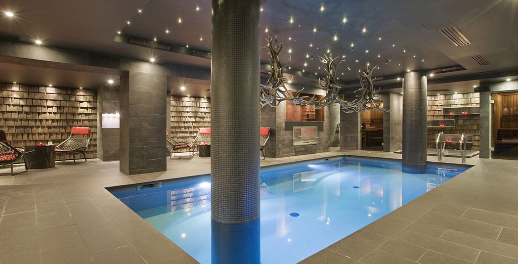 Dip into the fabulous indoor pool