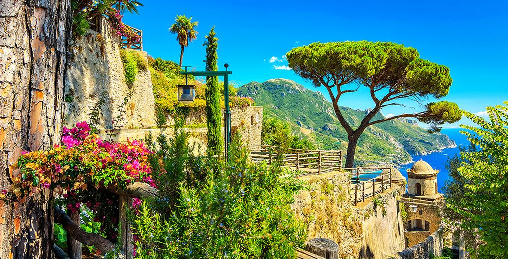 Visit nearby attractions, like the town of Ravello