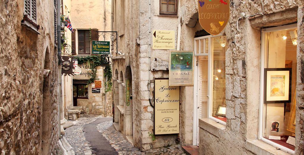 Stroll through the narrow, cobbled streets of Saint Paul de Vence