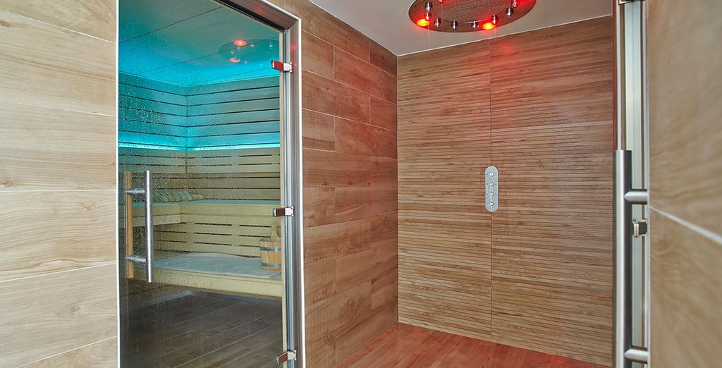Or unwind with a relaxing sauna session