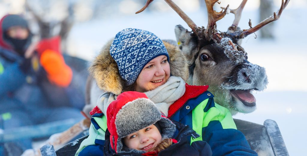 And enjoy a guided tour at a traditional Reindeer farm