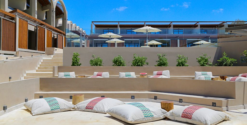 The adults only Domes Noruz Chania is sister to the award-winning Domes of Elounda