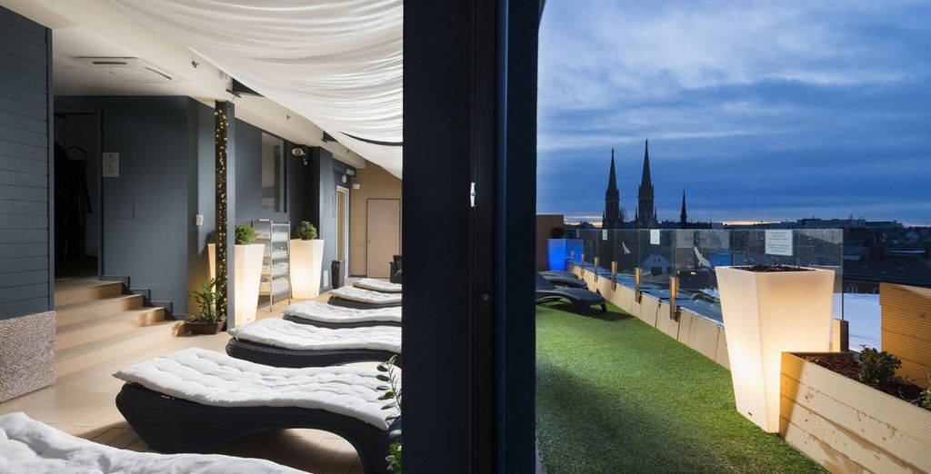 Enjoy a boutique stay with fabulous rooftop spa and champagne breakfast