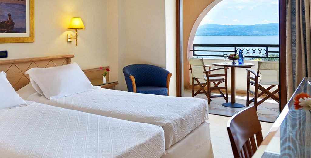 Our members can enjoy a Deluxe  Sea View Room