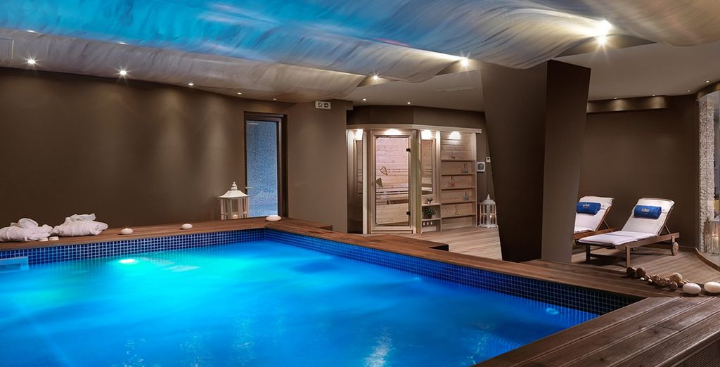Be pampered in the spa