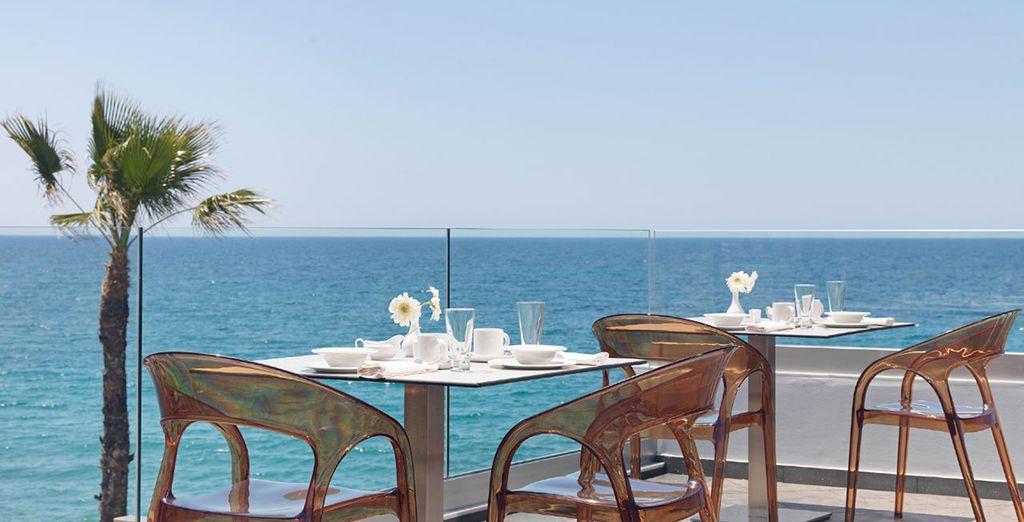 Feel the gentle sea breeze as you enjoy breakfast each morning