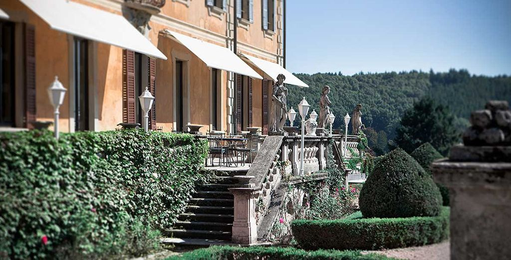 Spend some time relaxing in a regal 18th Century manor surrounded by lush gardens