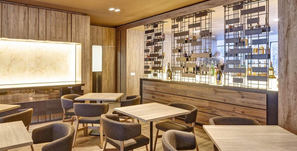 Treat yourself to some apres ski at the hotel's chic bar