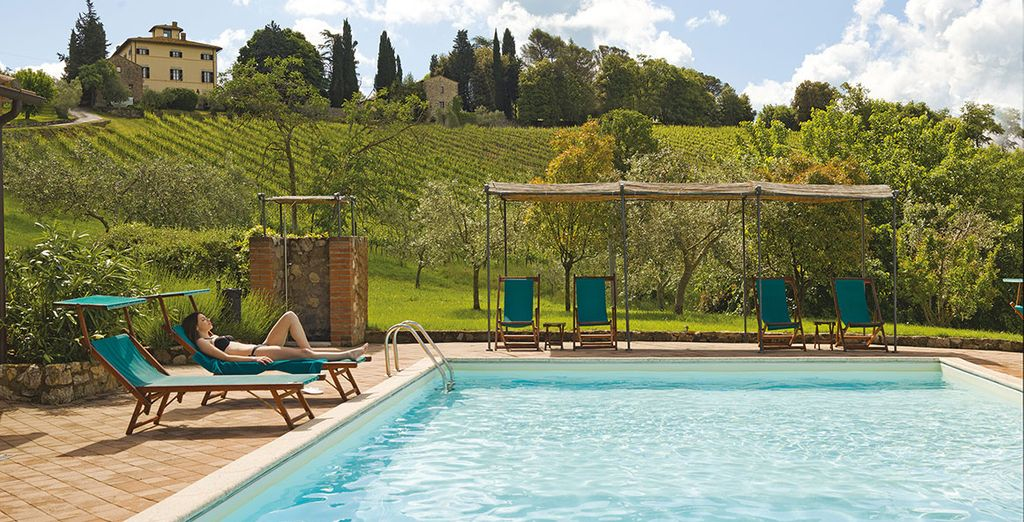 Soak up the Italian sunshine by the pool