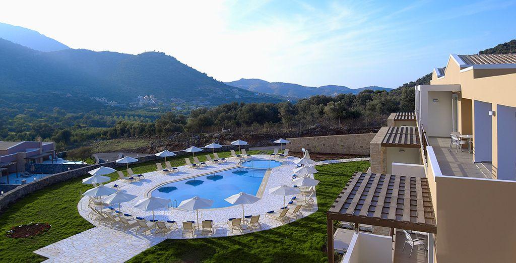 Discover hillside luxury on Crete...