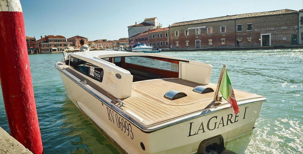 Head out to the romantic city of Venice on the hotel's own boat
