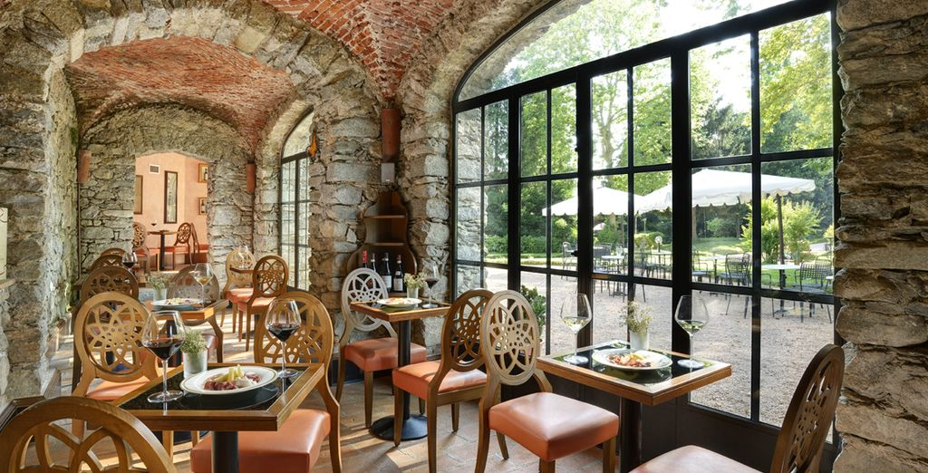 Whether you are savouring the flavours of a glass of wine in the rustic Wine Bar
