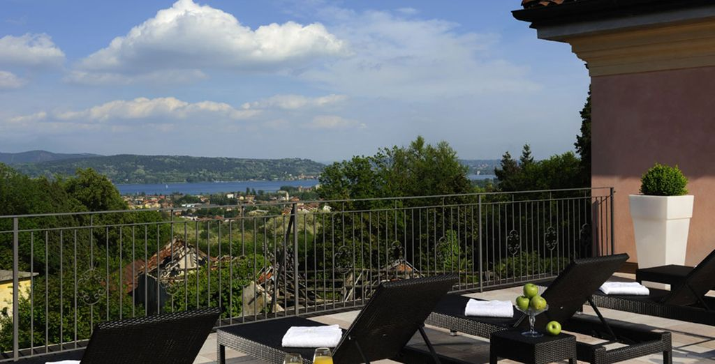 Take in the sweeping views from the rooftop terrace