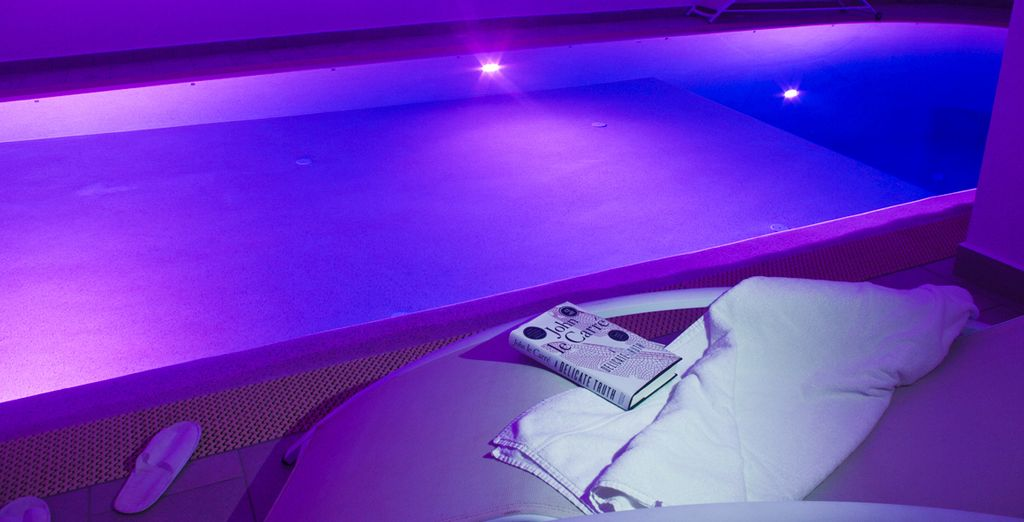 Soak in the indoor heated pool after a day of exploration