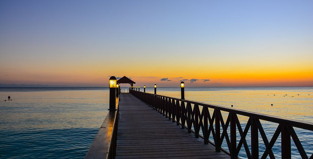 Take a sunset stroll to end your perfect day