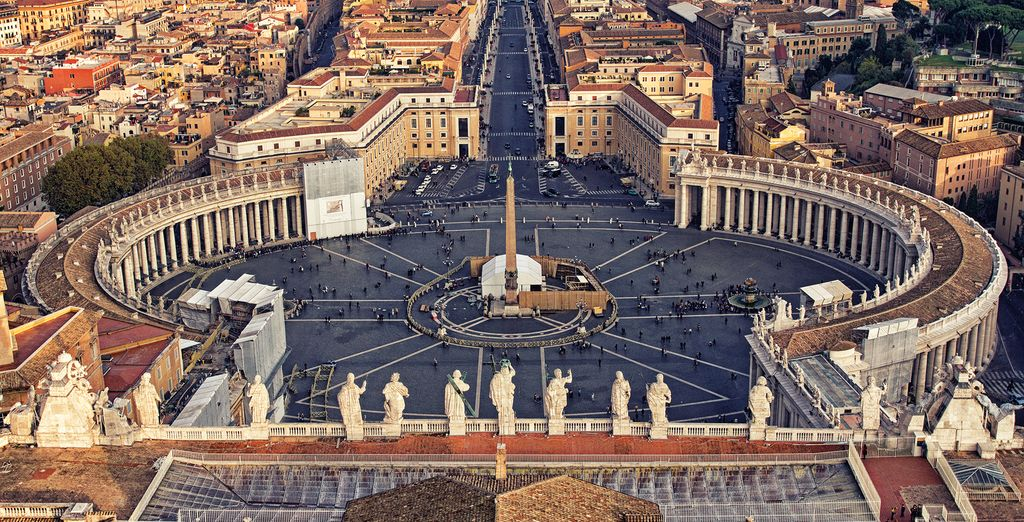 To the awe-inspiring Vatican City...