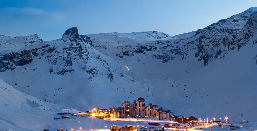 Ski resort in Europe : Tignes, France*