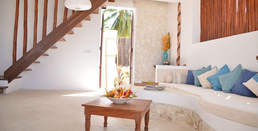 Sleep in a One Bedroom Ocean Front Bungalow