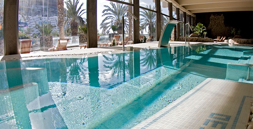 Soothe your senses in the indoor pool