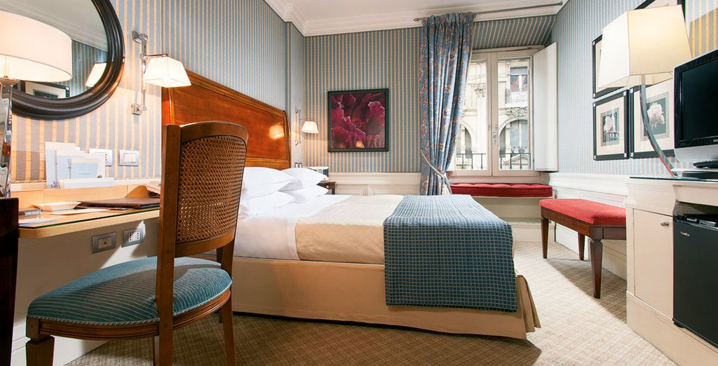 Your superior room is a calming place to relax after sightseeing