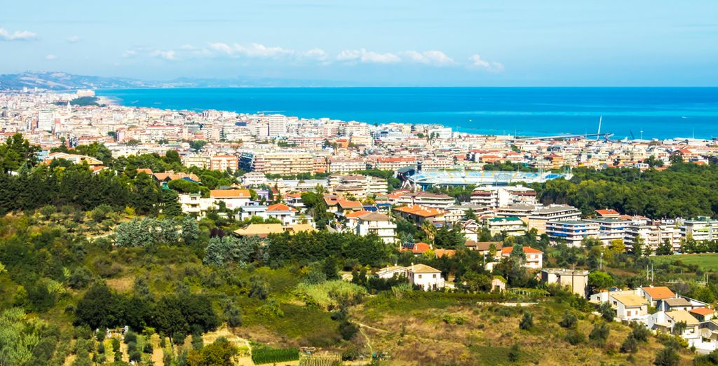 Add car hire and explore further, visiting exciting cities like Pescara